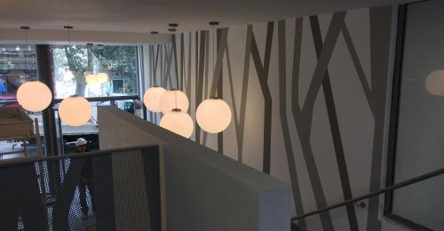 Décoration hall d'entrée peinture - Îlot National à Marseille