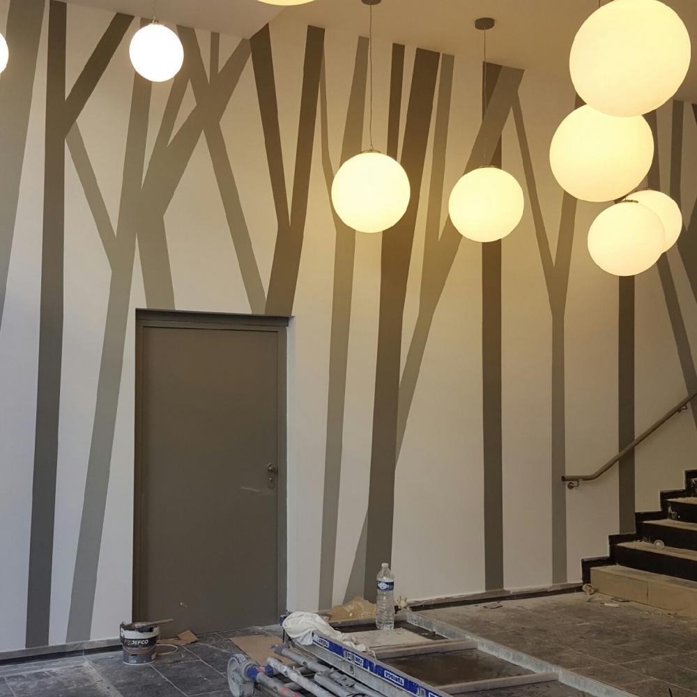 Résultat de l'intervention de peinture décorative à Marseille